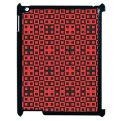 Abstract Background Red Black Apple Ipad 2 Case (black) by Nexatart