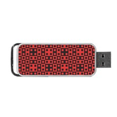 Abstract Background Red Black Portable Usb Flash (two Sides)