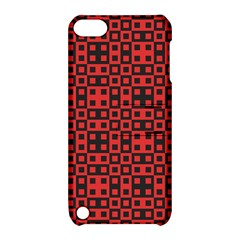 Abstract Background Red Black Apple Ipod Touch 5 Hardshell Case With Stand by Nexatart