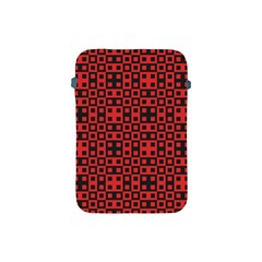 Abstract Background Red Black Apple Ipad Mini Protective Soft Cases