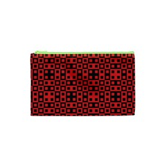 Abstract Background Red Black Cosmetic Bag (xs) by Nexatart