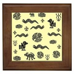 Aztecs Pattern Framed Tiles by ValentinaDesign