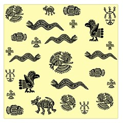 Aztecs Pattern Large Satin Scarf (square) by ValentinaDesign