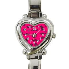 Aztecs Pattern Heart Italian Charm Watch by ValentinaDesign