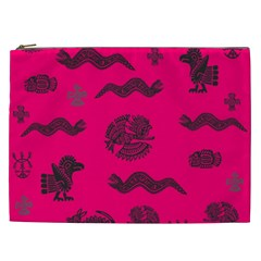 Aztecs Pattern Cosmetic Bag (xxl)