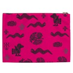 Aztecs pattern Cosmetic Bag (XXL)  Back