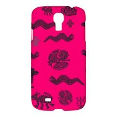 Aztecs Pattern Samsung Galaxy S4 I9500/i9505 Hardshell Case by ValentinaDesign