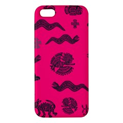 Aztecs Pattern Iphone 5s/ Se Premium Hardshell Case by ValentinaDesign