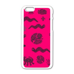 Aztecs Pattern Apple Iphone 6/6s White Enamel Case by ValentinaDesign