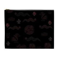 Aztecs Pattern Cosmetic Bag (xl) by ValentinaDesign