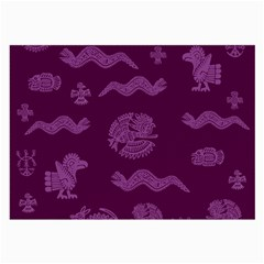 Aztecs Pattern Large Glasses Cloth (2 Side) by ValentinaDesign
