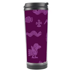 Aztecs Pattern Travel Tumbler by ValentinaDesign