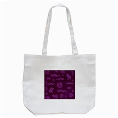 Aztecs Pattern Tote Bag (white) by ValentinaDesign