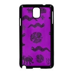 Aztecs Pattern Samsung Galaxy Note 3 Neo Hardshell Case (black) by ValentinaDesign