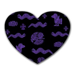 Aztecs Pattern Heart Mousepads by ValentinaDesign