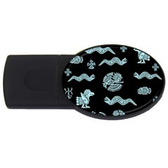 Aztecs Pattern Usb Flash Drive Oval (2 Gb) by ValentinaDesign