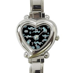 Aztecs Pattern Heart Italian Charm Watch by ValentinaDesign
