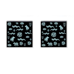 Aztecs Pattern Cufflinks (square) by ValentinaDesign