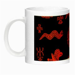 Aztecs Pattern Night Luminous Mugs by ValentinaDesign