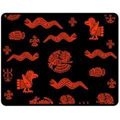 Aztecs Pattern Fleece Blanket (medium)  by ValentinaDesign