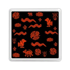 Aztecs Pattern Memory Card Reader (square)  by ValentinaDesign