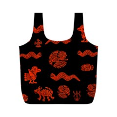 Aztecs Pattern Full Print Recycle Bags (m)  by ValentinaDesign