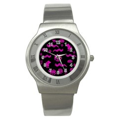 Aztecs Pattern Stainless Steel Watch by ValentinaDesign
