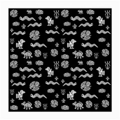 Aztecs Pattern Medium Glasses Cloth (2 Side) by ValentinaDesign