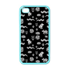 Aztecs Pattern Apple Iphone 4 Case (color) by ValentinaDesign