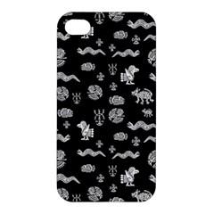 Aztecs Pattern Apple Iphone 4/4s Premium Hardshell Case by ValentinaDesign