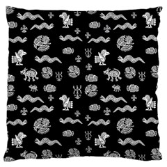 Aztecs Pattern Large Cushion Case (two Sides) by ValentinaDesign