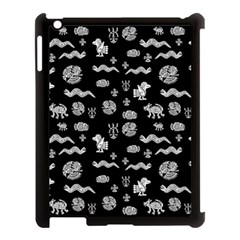 Aztecs Pattern Apple Ipad 3/4 Case (black) by ValentinaDesign