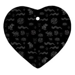 Aztecs Pattern Ornament (heart) by ValentinaDesign