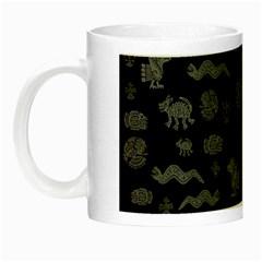 Aztecs Pattern Night Luminous Mugs by ValentinaDesign