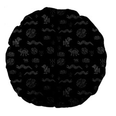 Aztecs Pattern Large 18  Premium Flano Round Cushions by ValentinaDesign