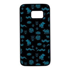 Aztecs Pattern Samsung Galaxy S7 Black Seamless Case by ValentinaDesign