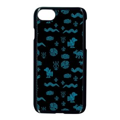 Aztecs Pattern Apple Iphone 7 Seamless Case (black) by ValentinaDesign
