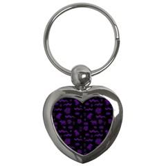 Aztecs Pattern Key Chains (heart)  by ValentinaDesign