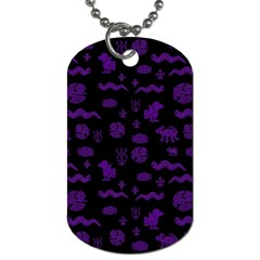 Aztecs Pattern Dog Tag (one Side) by ValentinaDesign