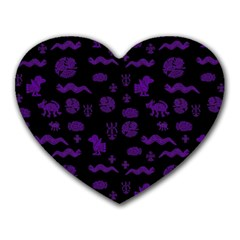 Aztecs Pattern Heart Mousepads by ValentinaDesign