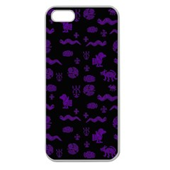 Aztecs Pattern Apple Seamless Iphone 5 Case (clear) by ValentinaDesign