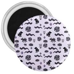 Aztecs Pattern 3  Magnets by ValentinaDesign