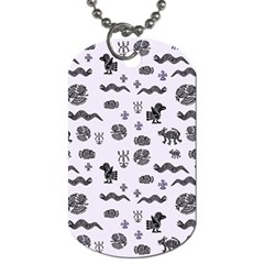 Aztecs Pattern Dog Tag (two Sides) by ValentinaDesign