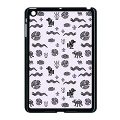Aztecs Pattern Apple Ipad Mini Case (black) by ValentinaDesign