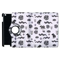 Aztecs Pattern Apple Ipad 3/4 Flip 360 Case by ValentinaDesign