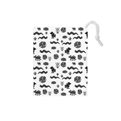 Aztecs Pattern Drawstring Pouches (small)  by ValentinaDesign