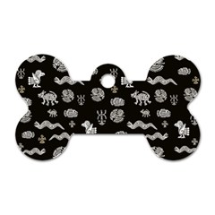 Aztecs Pattern Dog Tag Bone (two Sides) by ValentinaDesign