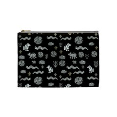 Aztecs Pattern Cosmetic Bag (medium)  by ValentinaDesign