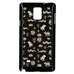 Aztecs Pattern Samsung Galaxy Note 4 Case (black) by ValentinaDesign
