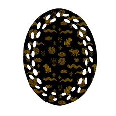 Aztecs Pattern Ornament (oval Filigree) by ValentinaDesign